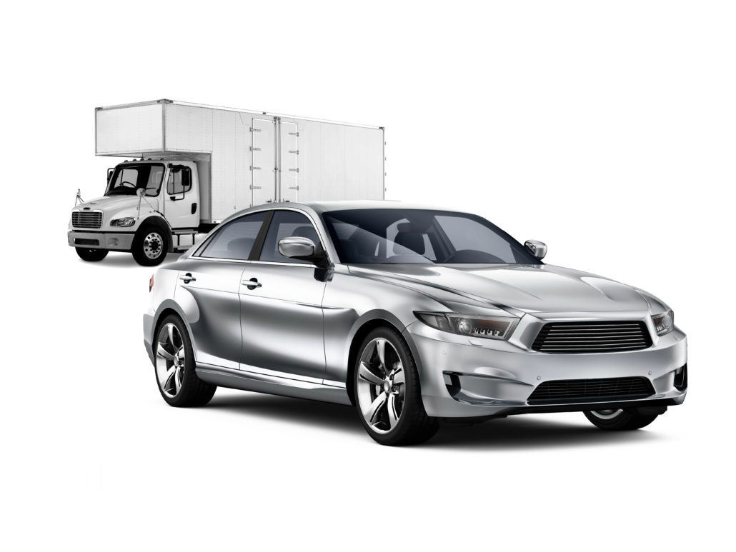 Moving Truck and Car